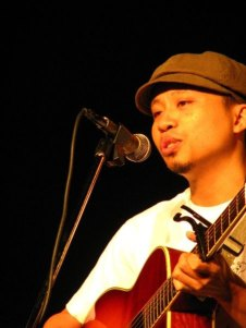 Danilo Fabella, the singer/composer of Baliktad na ang Mundo (The World's Inverted)